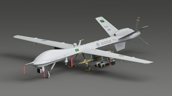 mq 9 predator 3d model
