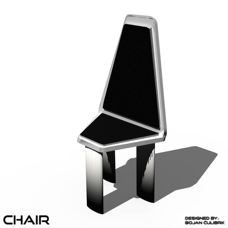3d model andromeda chair