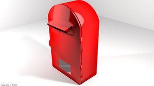 3d model mailbox mail