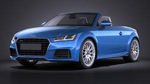 3d model of 2015 roadster audi