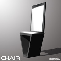 andromeda chair 3d obj