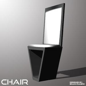 andromeda chair 3d obj