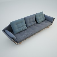 Blue Craft Sofa