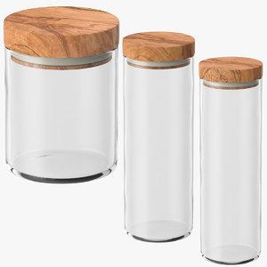 kitchen jars wood lids max