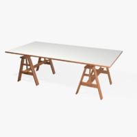 3d Sawhorse Wood Table