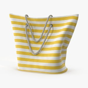 woven beach bag straps 3d model