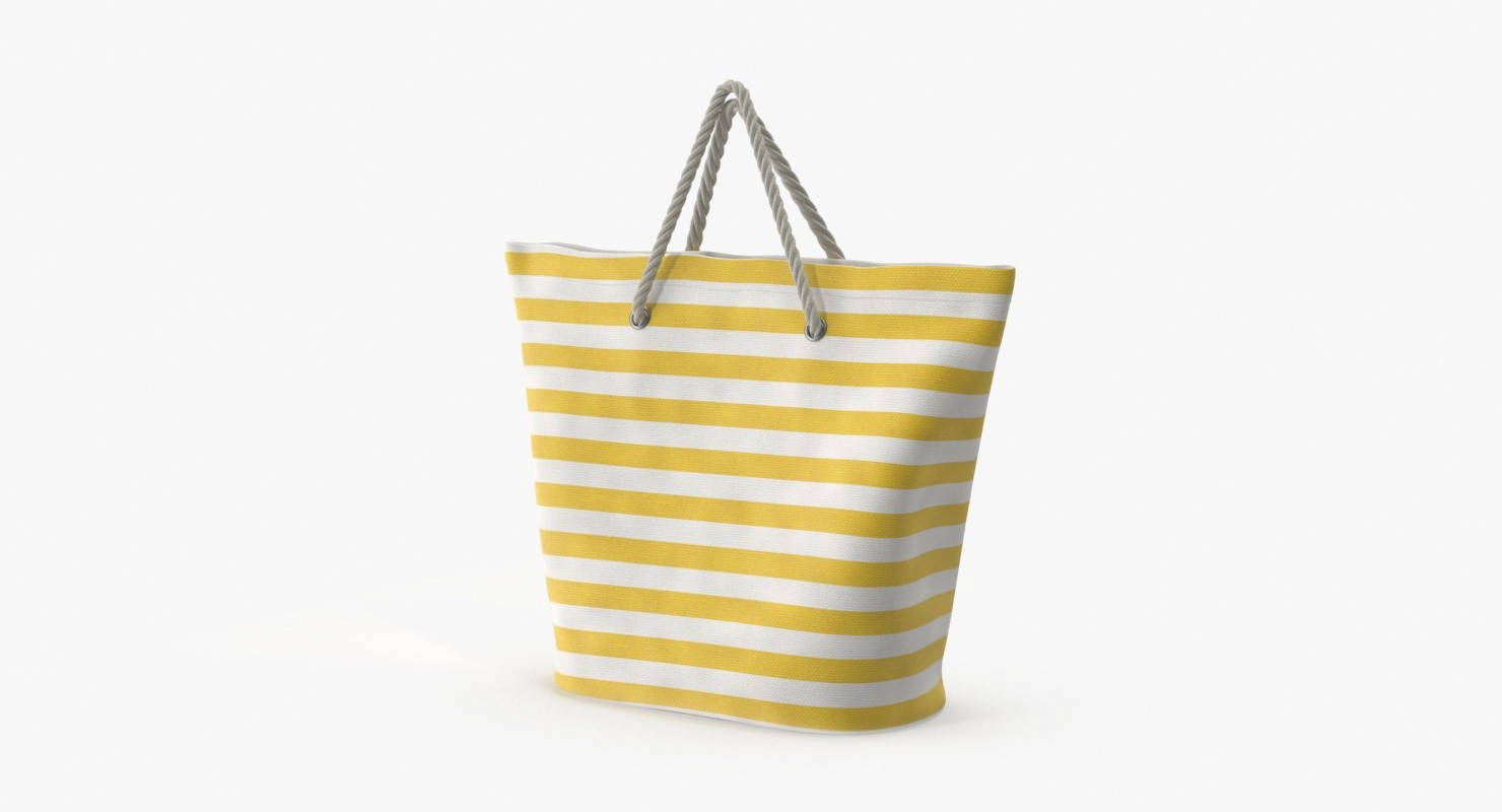 woven beach bag straps 3d model