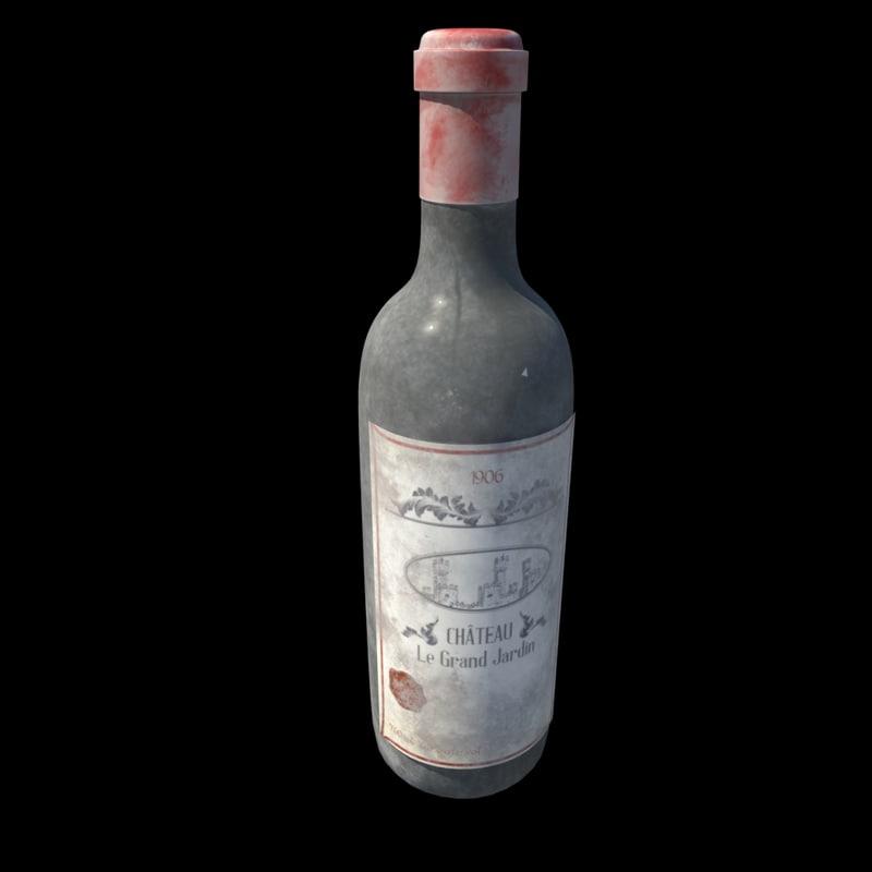 obj bottle wine