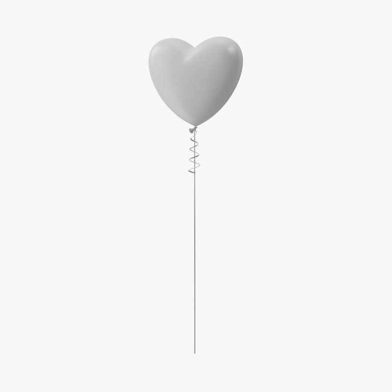 heart shaped balloon 3d model