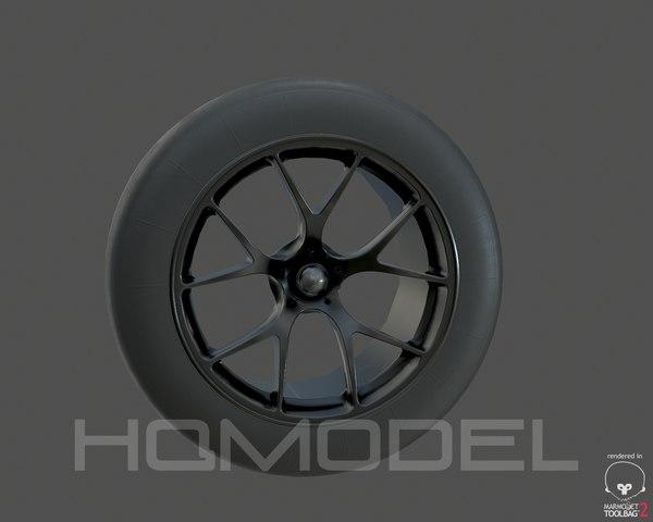 3d max generic standard tire rim