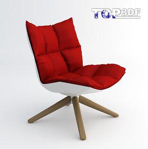 husk chair 3d max