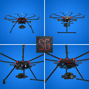 obj dji s1000 octocopter