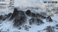 obj snow mountain