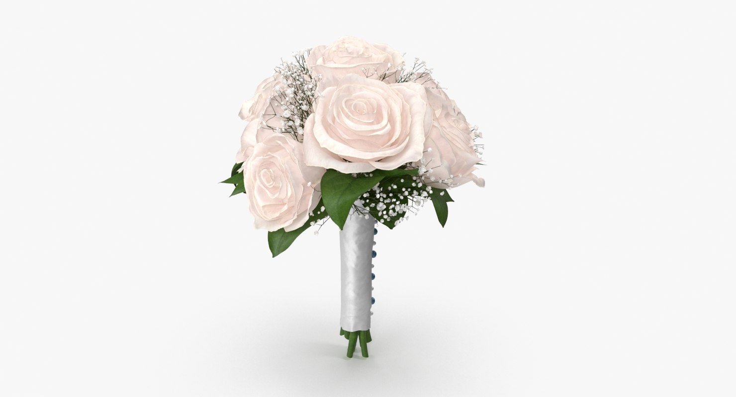 3d bridal bouquet