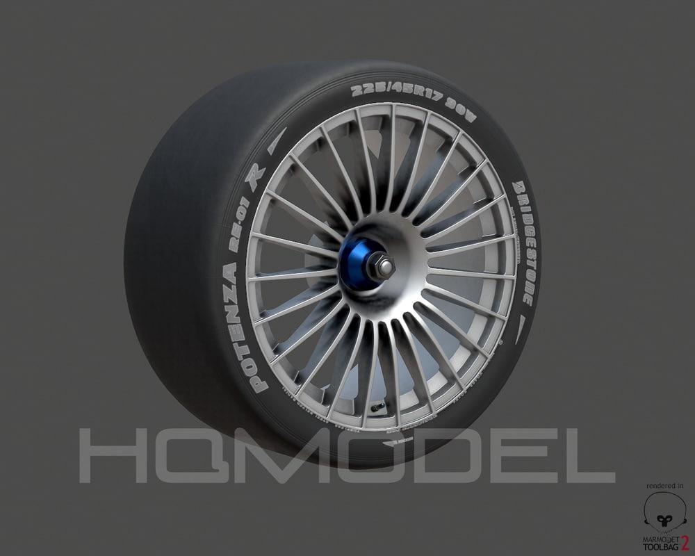 generic standard tire rim 3d max
