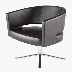 3d lounge chair turner montis model