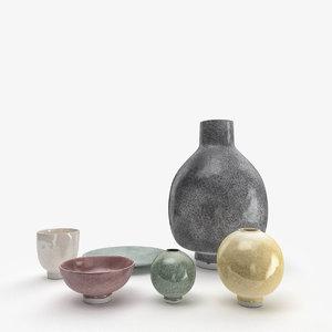 3d unico vase flowerpot model
