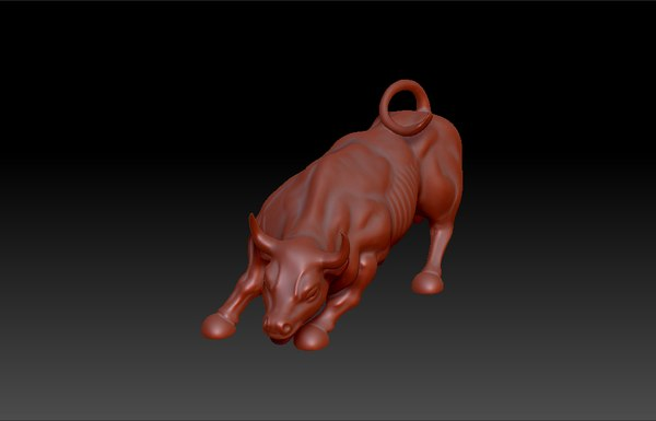 3d model wall street bull