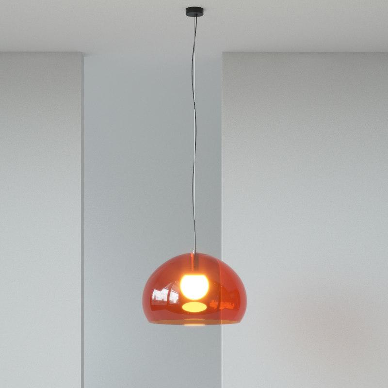 3d kartell fly pendant light model