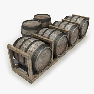 barrels modeled games 3d obj