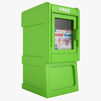 newspaper box 3d 3ds