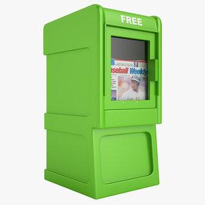 newspaper box 3d 3ds