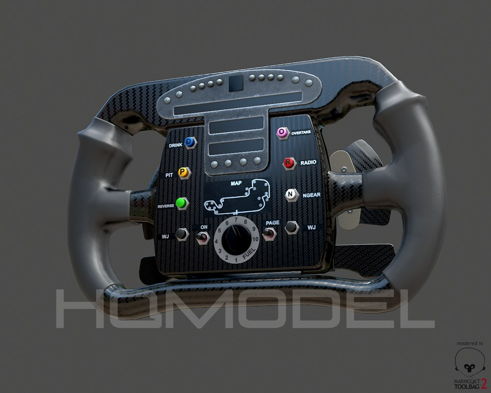 3d generic steer wheel indy car