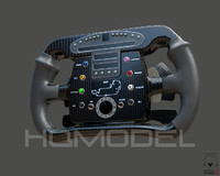 3d generic steer wheel indy car