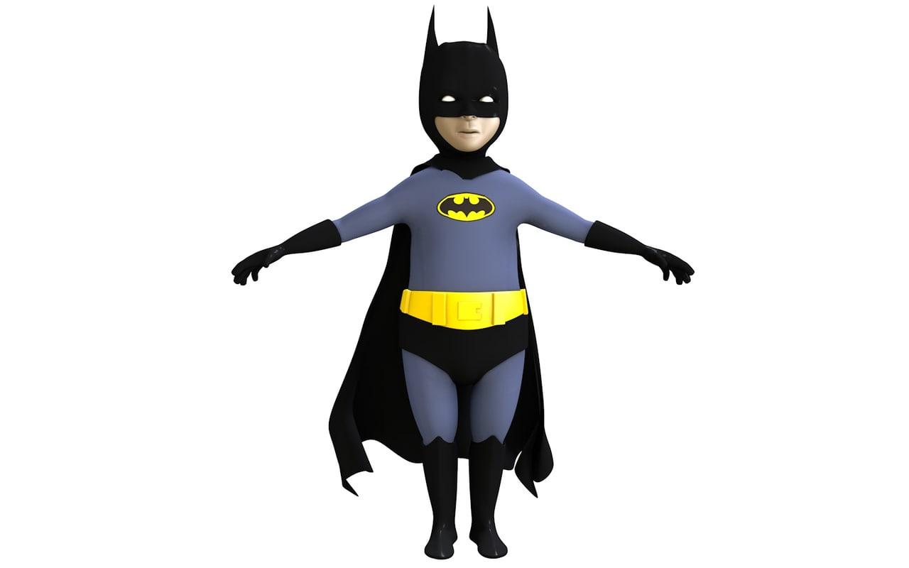 3d kid batman model