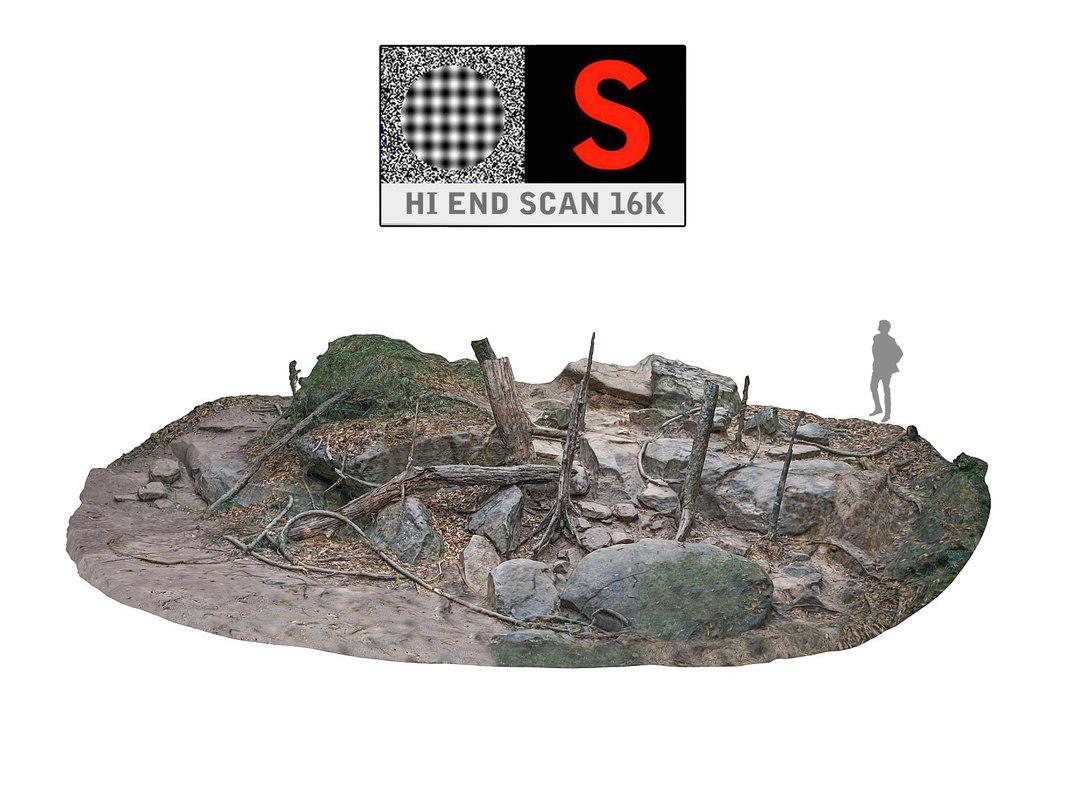 jungle scan 16 k 3d model
