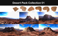 desert packed 3d model