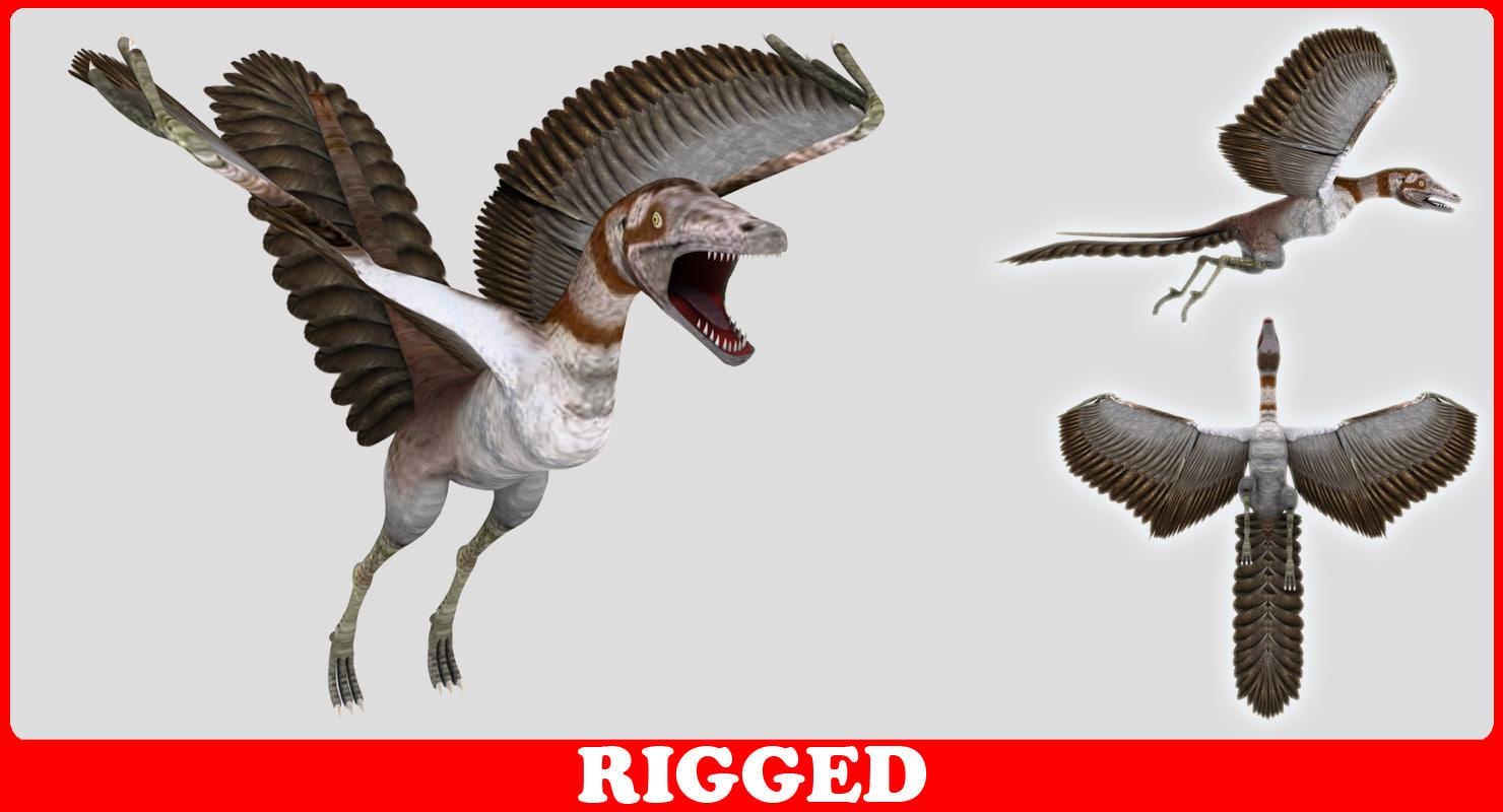 3d model dinosaur flay
