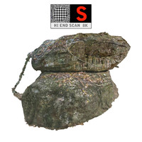 jungle rock 8k 3d model