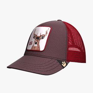 3d model hat goorin brothers animal