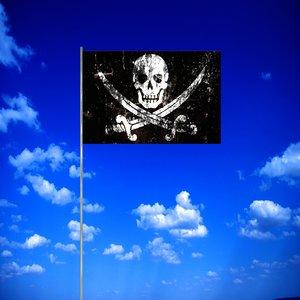 3d 3ds pirates flag pole
