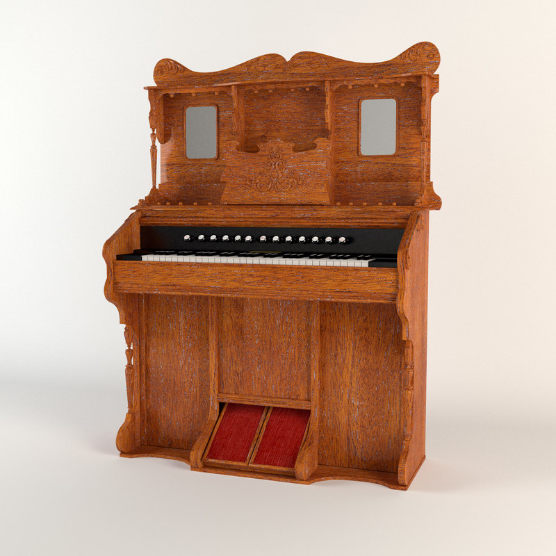 antique harmonia piano 3d max