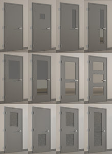 3d doors hollow metal doors- model