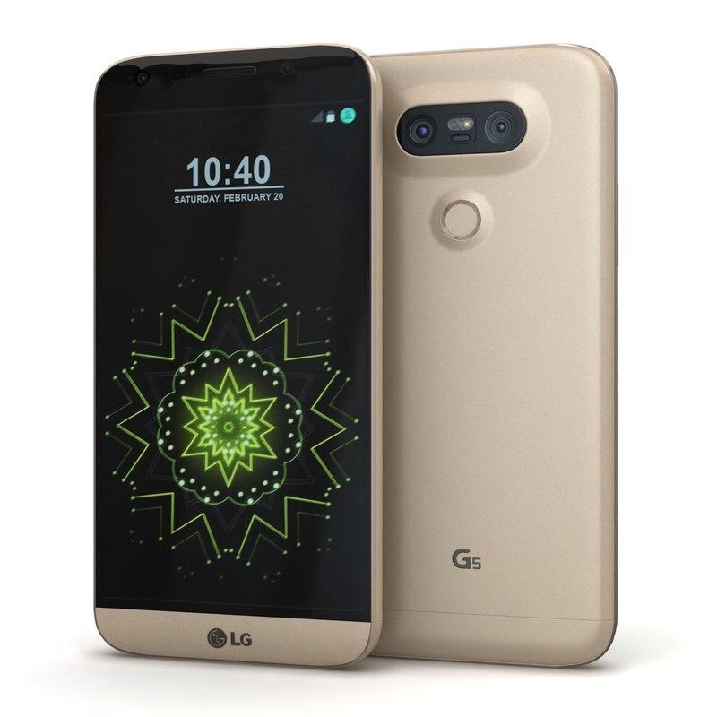 3d model lg g5 gold