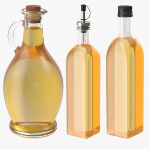 3d model oil bottles