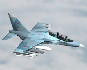 3d yak-130 fighter yak 130 model