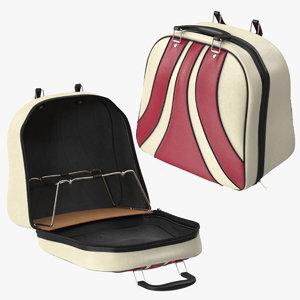 bowling bag open closed 3d max