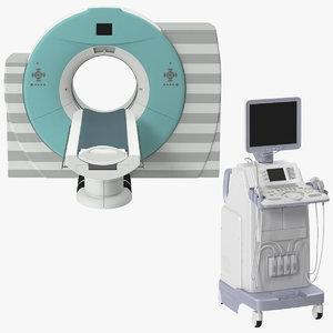 ultrasound machine ct scanner c4d