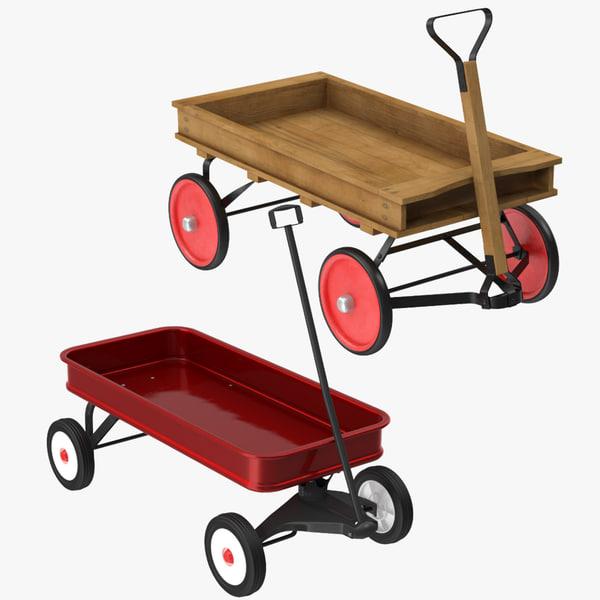 child wagons 3d model