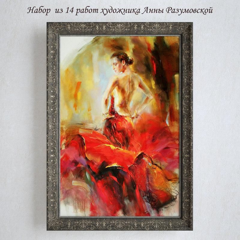 3d paintings anna razumovskaya red
