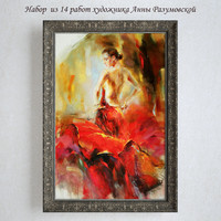 3d paintings anna razumovskaya red