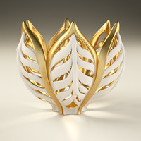 vase gilded wheat 3d model