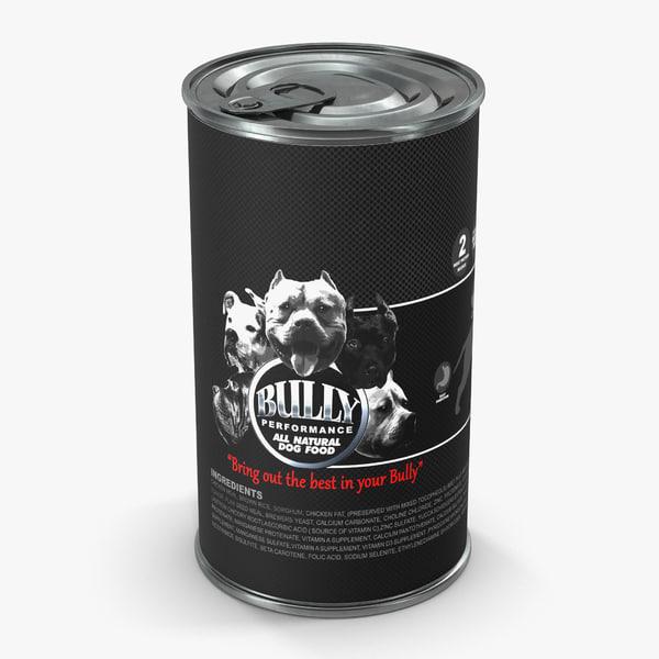 3d model dog food tin modeled