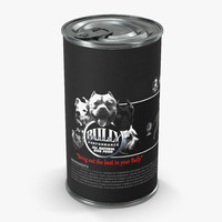 3d model dog food tin modeled