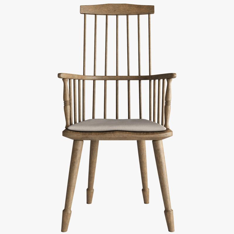 3d model windsor armchair