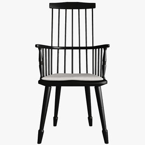 windsor armchair 3d model